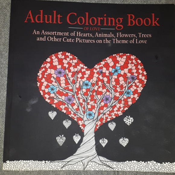 Love Themed - Adult Colouring Book